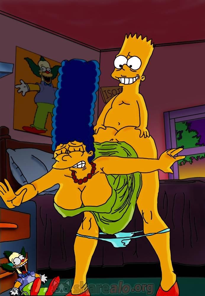Hentai Porno - Bart Simpson Rompiéndole el Culo a Marge - imagenes-porno